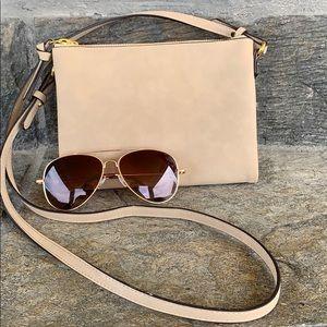 Light brown side purse